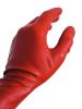 Gummi-Handschuhe - kurz - rot