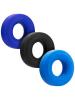 HUNKYJUNK Ballring-Cockring 3er Set blau-schwarz