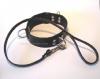 Leder-Halsband, 3 D-Ringe, 50mm