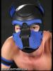 Mister S Neopren Puppy-Maske - schwarz/blau