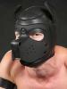 Mister S Neopren Puppy-Maske - schwarz/schwarz