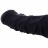 Penishülle FRANZ - 14cm Schaft geädert mit Rand - schwarz