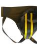 Gummi-Jock-Strap SPEXTER - zwei gelbe Streifen