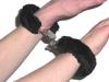 Handschellen mit Plüschbesatz - SCHWARZ