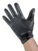 Leder-Handschuhe OFFICER GLATT SCHWARZ