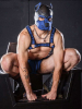 Mister S Neopren K9 Puppy-Maske - schwarz/blau
