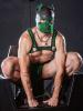 Mister S Neopren K9 Puppy-Maske - schwarz/grün