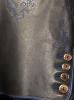 Spexter Bayerische kurze Lederhose - blaue Stickerei