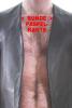 SPEXTER Lederweste mit Paspel + Streifen ROT