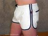 Leder-Sport/Boxershort, weiss-blau