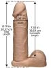 VAC-U-LOCK 8 inch Dildo mit ULTRA HARNESS