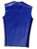 Gummi T-Shirt ohne Arm blau - gelbe Streifen