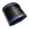 Latex-Handgelenk-Börse mit 2 Streifen BLAU