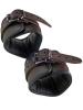 Leder-Fussfessel, schwarzbraun - 6,5cm