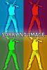 Leder-Halsband gepolstert weiss - 3 D-Ringe - 6,5cm