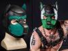 Mister S Neopren K9 Puppy-Maske - schwarz/hunter grün