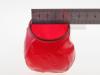 Penishülle - geschlossen + geädert - Größe M, rot