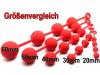Analkugeln - Anal-Balls - Silikon -XL- 4x60mm rot
