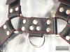 Oberkörper-Harness BULLDOG - rot genäht - 4cm