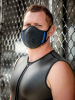 Mister S Neopren Face Mask schwarz-blau