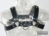 Oberkörper-Harness - BULLDOG - blau genäht - 4cm