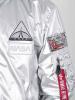 Alpha Industries MA-1 LW Hooded NASA - silver