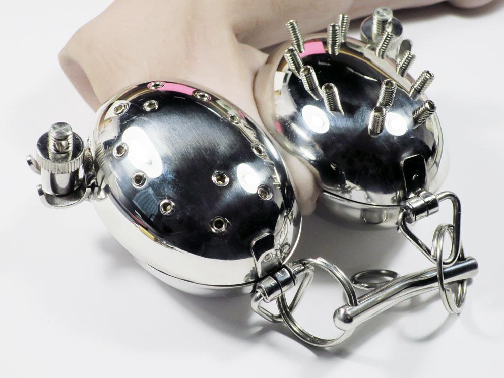 Hodenschloss und Hodenpresse BDSM - Edelstahl kaufen